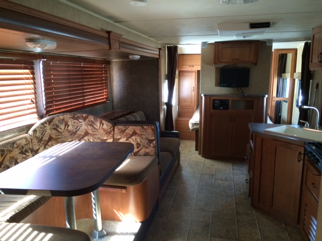 Alberts RV Rental Large Rentals - Table converts to bed
